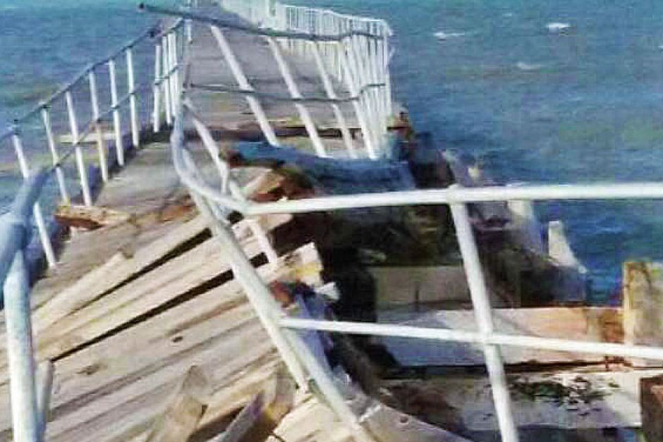 Jetty reopened after storm